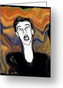 Scream Greeting Cards - The Scream Greeting Card by Russell Pierce