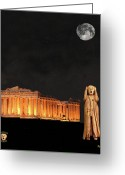 Greek Sculpture Greeting Cards - The Scream World Tour Athens Greeting Card by Eric Kempson