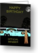 Greek Sculpture Greeting Cards - The Scream World Tour Football tour bus Happy Birthday Greeting Card by Eric Kempson