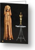 Avenue Of The Arts Greeting Cards - The Scream World Tour Oscars Greeting Card by Eric Kempson