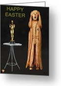  Biltmore Hotel Greeting Cards - The Scream World Tour Oscars Happy Easter Greeting Card by Eric Kempson