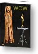  Biltmore Hotel Greeting Cards - The Scream World Tour Oscars Wow Greeting Card by Eric Kempson
