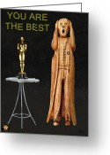  Biltmore Hotel Greeting Cards - The Scream World Tour Oscars You Are The Best Greeting Card by Eric Kempson