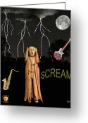 Motown Scream Tour Greeting Cards - The Scream World Tour  Scream Rocks Scream Greeting Card by Eric Kempson