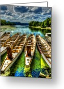 Hdr Look Photo Greeting Cards - The Sea Awaits Greeting Card by Sarah Hauck