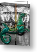 Amusement Parks Greeting Cards - The Sea Dragon Greeting Card by Colleen Kammerer