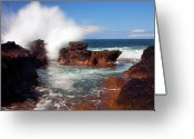 Explosion Photo Greeting Cards - The Sea Explodes Greeting Card by Mike  Dawson