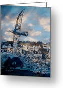 Karo Evans Greeting Cards - The sea-gull Greeting Card by Karo Evans