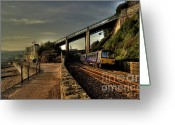 Sea Wall Greeting Cards - The Sea wall at Teignmouth Greeting Card by Rob Hawkins