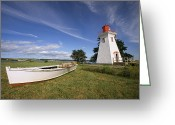 Structures Greeting Cards - The Seaport Lighthouse Museum On Prince Greeting Card by Richard Nowitz