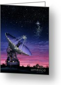 Lynette Cook Greeting Cards - The Search for Extraterrestrial Intelligence Greeting Card by Lynette Cook