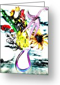 Sea Flowers Greeting Cards - The seas seed Greeting Card by Jerry Cordeiro