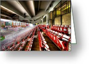 Bleachers Greeting Cards - The Seats at Martin Stadium Greeting Card by David Patterson