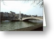 White River Scene Greeting Cards - The Seine River Greeting Card by Ellen Henneke