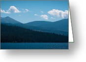 Reds Greeting Cards - The Selkirk Mountain Range at Dusk Greeting Card by David Patterson