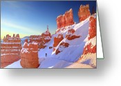 Bryce Canyon Greeting Cards - The Sentinal Bryce Canyon Greeting Card by (C) Rob Little
