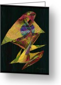 Lacy Fractal Greeting Cards - The Sentinel Greeting Card by Anne Lacy