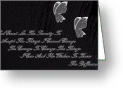 Art Greeting Cards - The Serenity Prayer Greeting Card by Sherri  Of Palm Springs
