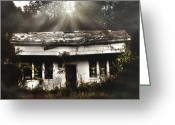 Dilapidated Greeting Cards - The Shack Greeting Card by Jessica Brawley