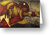 Guitar Greeting Cards - The Shape That Defines Us Greeting Card by Darlene Keeffe