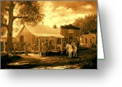 Lawmen Greeting Cards - The Sheriff Greeting Card by Donn Kay