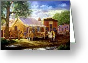 Lawmen Greeting Cards - The Sheriffs Posse  Greeting Card by Donn Kay