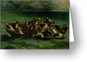 Decide Greeting Cards - The Shipwreck of Don Juan Greeting Card by Ferdinand Victor Eugene Delacroix