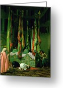 Orientalist Greeting Cards - The Shrine of Imam Hussein Greeting Card by Jean Leon Gerome