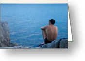 Contemplation Greeting Cards - The Sicilian Greeting Card by Neil Buchan-Grant