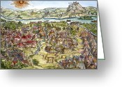 Viennese Greeting Cards - The Siege Of Vienna Greeting Card by Granger