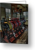 Lever Greeting Cards - The Signal Box at Hoorn Greeting Card by Rob Hawkins