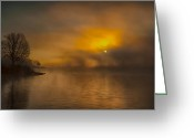 Ron Mcginnis Photography Greeting Cards - The Silence of Morning Greeting Card by Ron  McGinnis