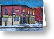 Montreal Restaurants Greeting Cards - The Silver Dragon Restaurant Verdun Greeting Card by Reb Frost