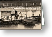 Cebucity Greeting Cards - The Simple Life in Living Sepia Greeting Card by James Bo Insogna