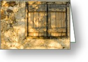 Wooden Home Greeting Cards - The Simple Life Greeting Card by Meirion Matthias