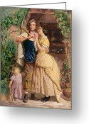 Old England Greeting Cards - The Sinews of Old England Greeting Card by George Elgar Hicks