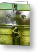 Abstract Greeting Cards - The Sink Greeting Card by Elizabeth Hoskinson