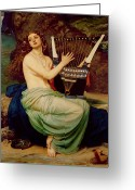 Chest Greeting Cards - The Siren Greeting Card by Sir Edward John Poynter