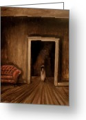 The Haunted House Greeting Cards - The Sisters Greeting Card by Daniel W Green