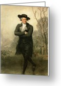 Colonial Man Painting Greeting Cards - The Skater Portriat of William Grant Greeting Card by Gilbert Stuart