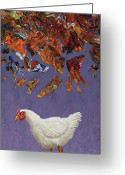 Purple Painting Greeting Cards - The sky IS falling Greeting Card by James W Johnson