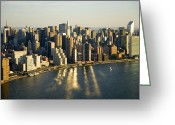 Image Type Photo Greeting Cards - The Skyscrapers Of Midtown, Including Greeting Card by Michael S. Yamashita