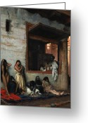Trader Greeting Cards - The Slave Market Greeting Card by Jean Leon Gerome