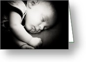 Kid Photo Greeting Cards - The sleep Greeting Card by Gabriela Insuratelu
