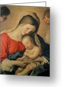 Virgin Maria Greeting Cards - The Sleeping Christ Child Greeting Card by Il Sassoferrato