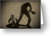 Phillies Digital Art Greeting Cards - The Slide - Kick Up Some Dust Greeting Card by Bill Cannon