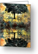 Tree Digital Art Greeting Cards - The Small Dreams of Trees Greeting Card by Tara Turner