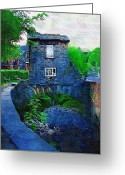 Small House Greeting Cards - The Smallest House Greeting Card by Amanda Moore