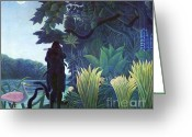 Jungle Snake Greeting Cards - The Snake Charmer Greeting Card by Pg Reproductions