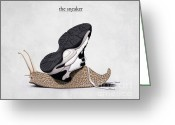 Creature Digital Art Greeting Cards - The Sneaker Greeting Card by Rob Snow